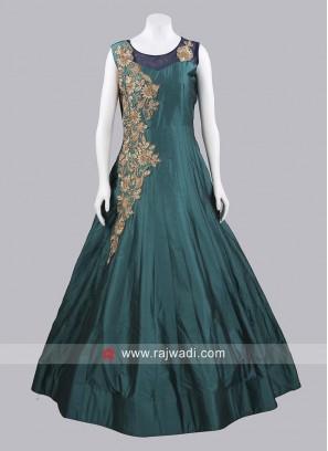 Taffeta Silk Flare Gown