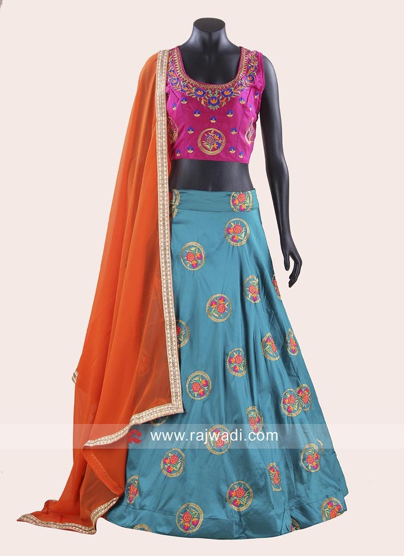 Taffeta Silk Navratri Chaniya Choli