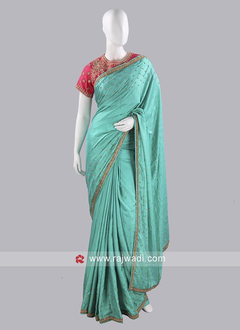 Taffeta Silk Party Wear Saree