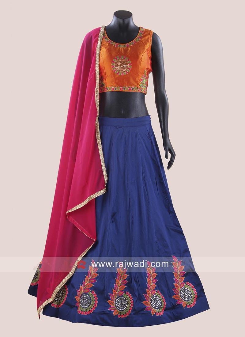 Taffeta Silk Readymade Chaniya Choli
