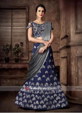 Taffeta Silk Wedding Lehenga Choli