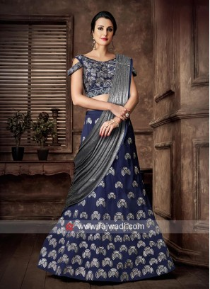 Taffeta Silk Wedding Lehenga Choli