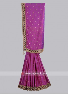 Taffeta Silk Wedding Saree
