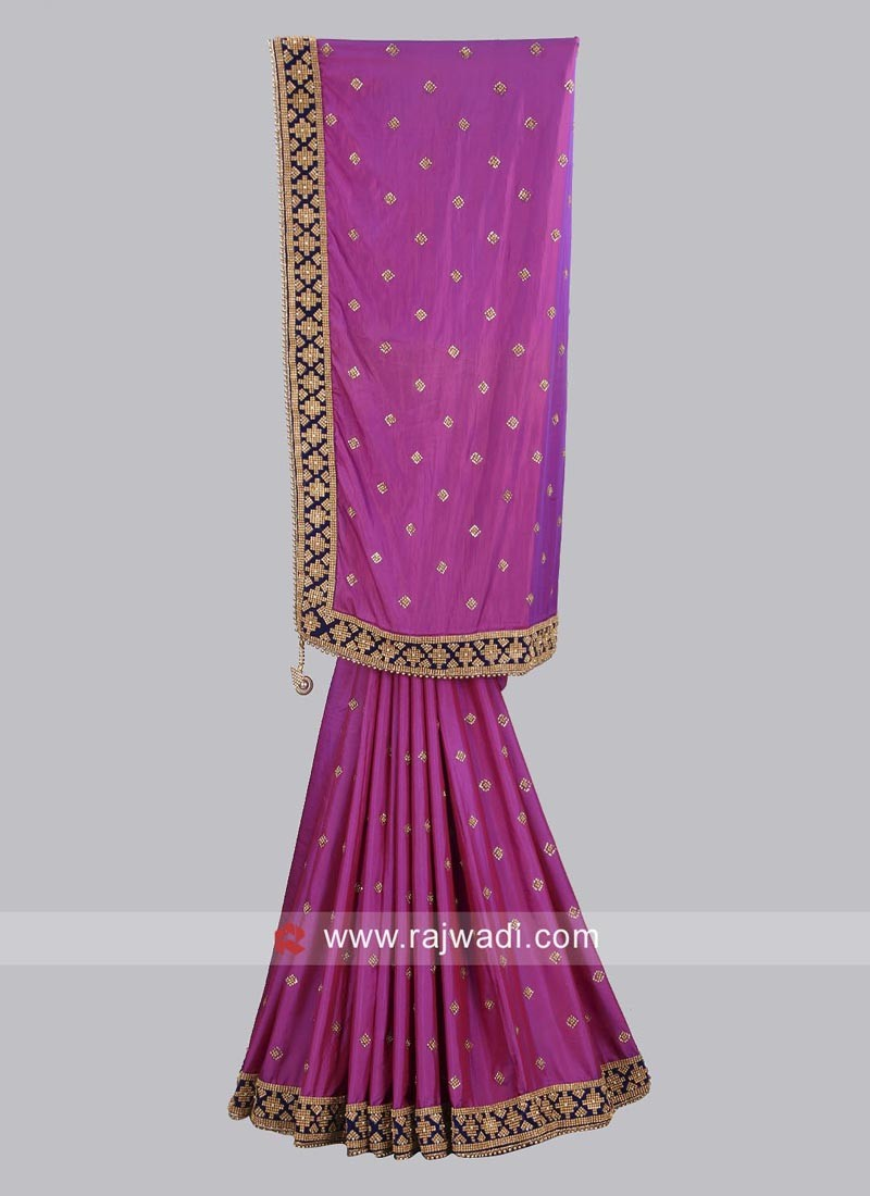 Taffeta Silk Wedding Saree