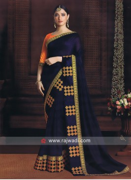 Tamannaah Bhatia Blue Art Silk Saree