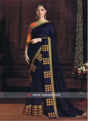 Tamannaah Bhatia Blue Art Silk Saree