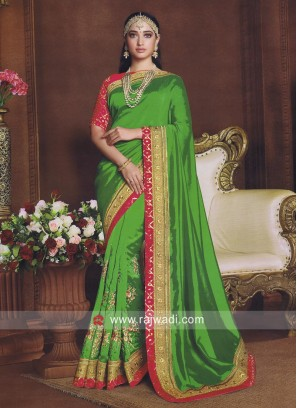 Tamannaah Bhatia Bollywood Saree in Green