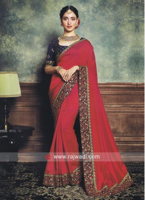 Tamannaah Bhatia Border Work Saree