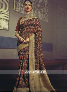 Tamannaah Bhatia Brocade Border Saree
