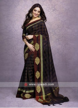 Tamannaah Bhatia Cotton Silk Checks Saree