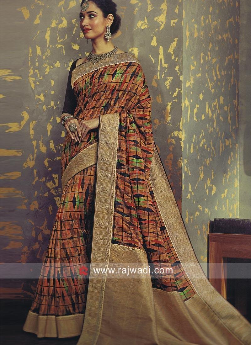 72382711e169e Tamannaah Bhatia Designer Printed Saree. Hover to zoom