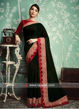 Tamannaah Bhatia Designer Saree with Border