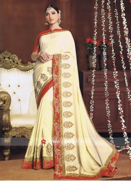 Tamannaah Bhatia Golden Cream Saree