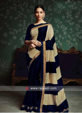 Tamannaah Bhatia Golden Lace Border Sari