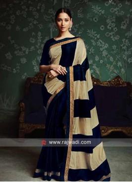 Tamannaah Bhatia Golden Lace Border Sari