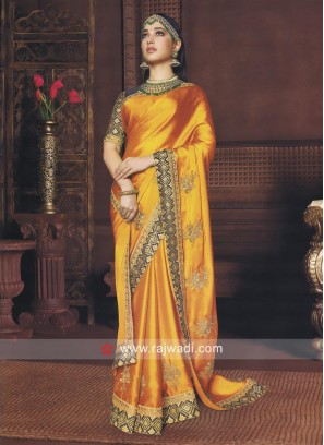 Tamannaah Bhatia Golden Yellow Saree