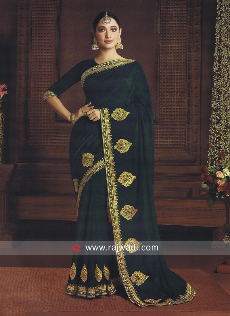 Tamannaah Bhatia Green Bollywood Saree