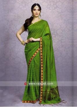 Tamannaah Bhatia Green Saree