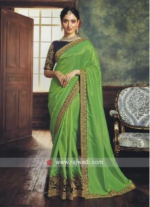 Tamannaah Bhatia Green Saree with Blouse