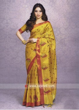 Tamannaah Bhatia in Golden Yellow Saree