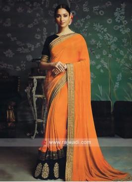 Tamannaah Bhatia in Orange Saree