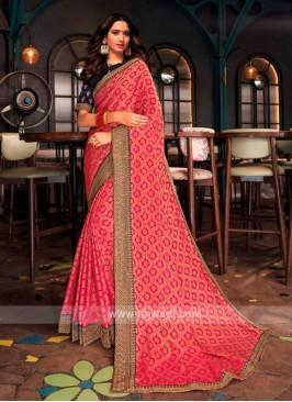 Tamannaah Bhatia In Pink Banarasi Silk Saree.