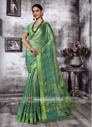 Tamannaah Bhatia in Sea Green Saree
