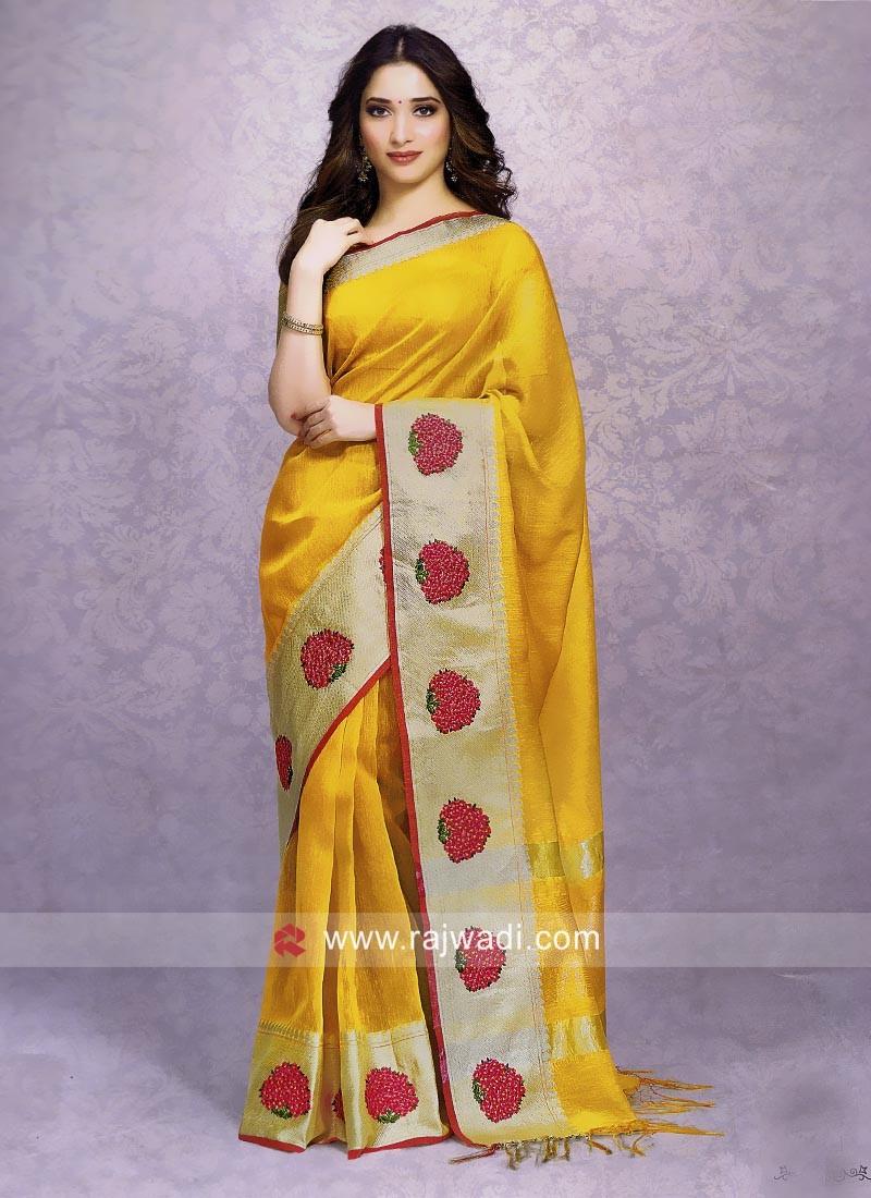 Tamannaah Bhatia in Yellow Saree