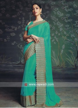 Tamannaah Bhatia Light Sea Green Saree