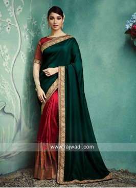 Tamannaah Bhatia Maroon and Green Saree