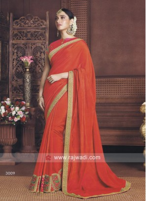 Tamannaah Bhatia Orange Saree