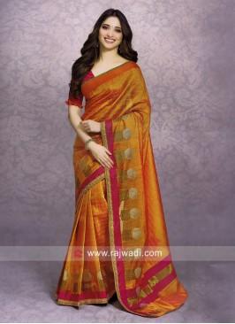 Tamannaah Bhatia Orange Saree with Blouse
