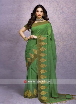 Tamannaah Bhatia Patch Border Work Saree
