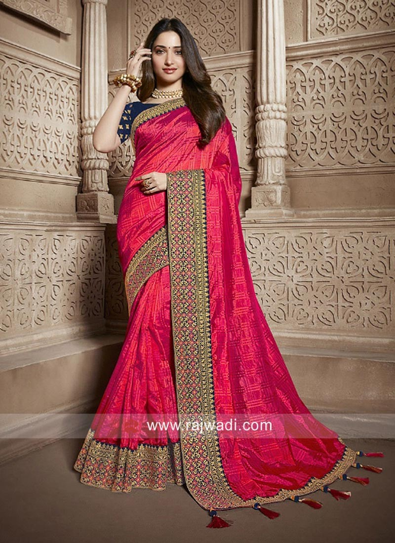 Tamannaah Bhatia Pink Saree with Blouse