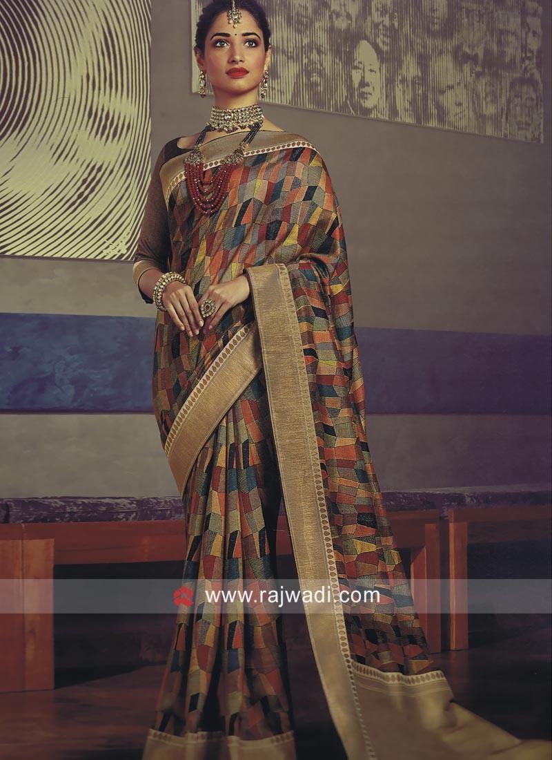 ef954f373b09f Tamannaah Bhatia Printed Saree. Hover to zoom