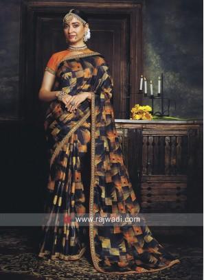 Tamannaah Bhatia Printed Saree