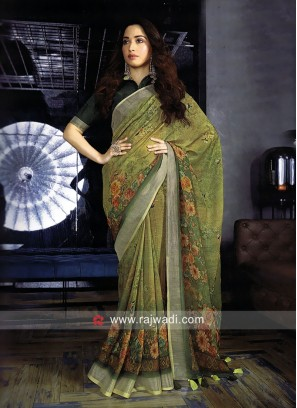 Tamannaah Bhatia Printed Saree with Blouse