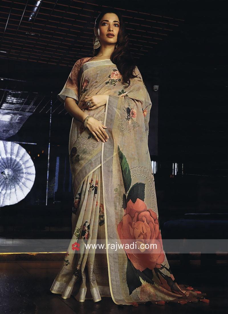 Tamannaah Bhatia Printed Woven Saree