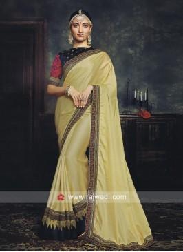 Tamannaah Bhatia Resham and Zari Work Saree