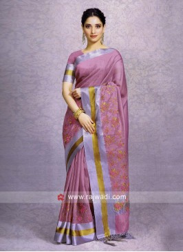 Tamannaah Bhatia Resham and Zari Work Saree