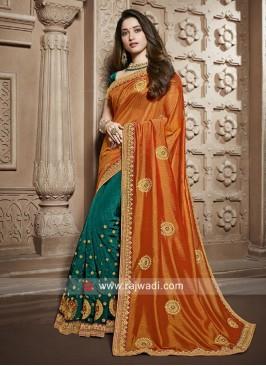 Tamannaah Bhatia Resham Work Half Saree