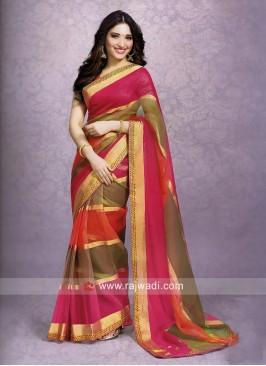 Tamannaah Bhatia Resham Work Saree