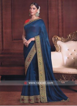 Tamannaah Bhatia Saree in Blue