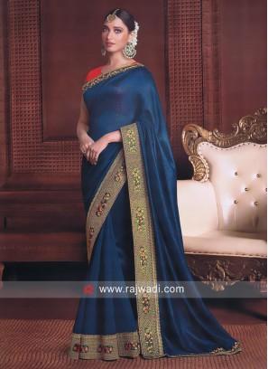 Tamannaah Bhatia Saree in Blue