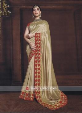 Tamannaah Bhatia Saree in Golden Cream