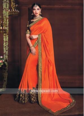 Tamannaah Bhatia Saree in Orange