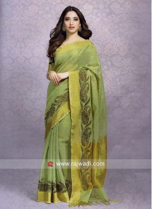 Tamannaah Bhatia Saree in Sea Green