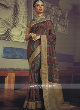 Tamannaah Bhatia Saree with Brocade Border