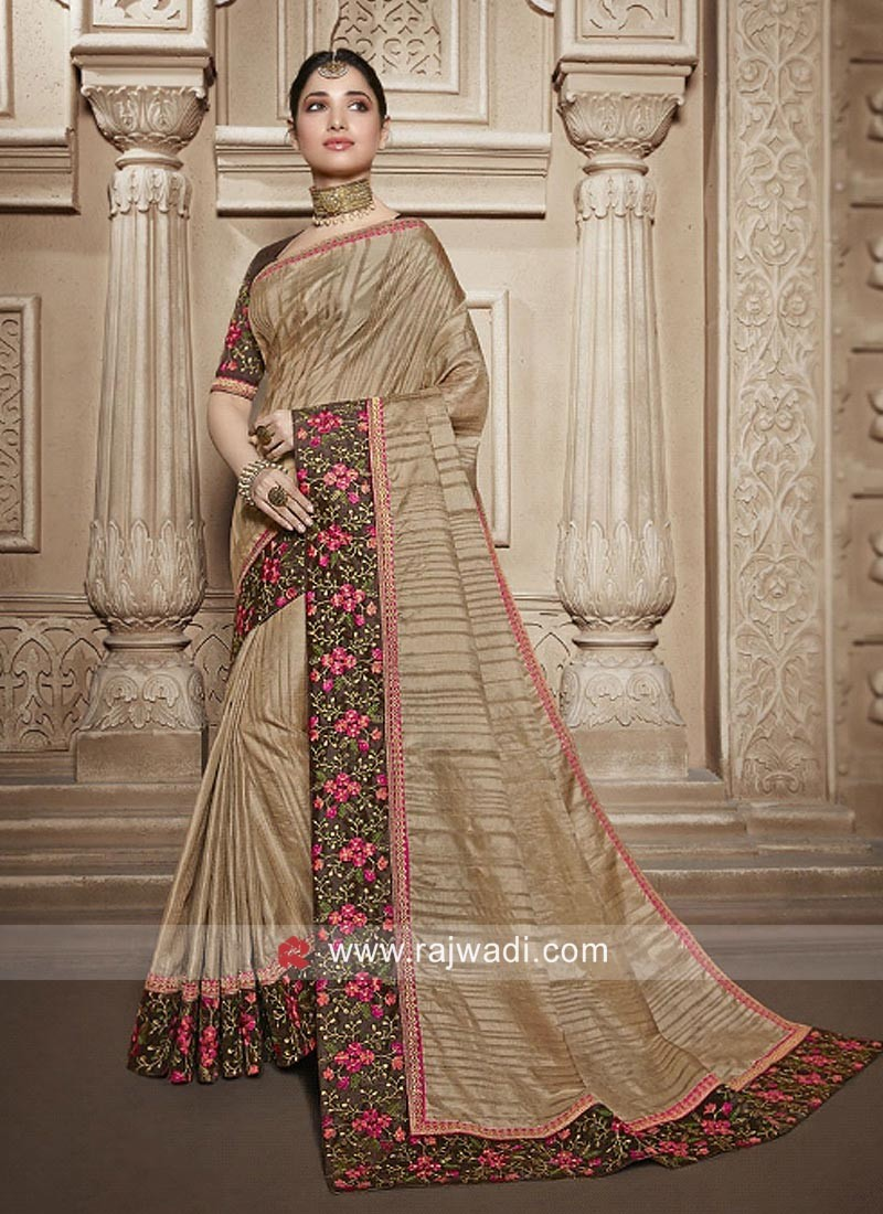 Tamannaah Bhatia Saree with Embroidered Border