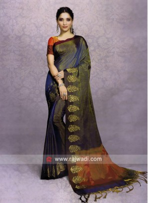 Tamannaah Bhatia Saree with Paisley Border